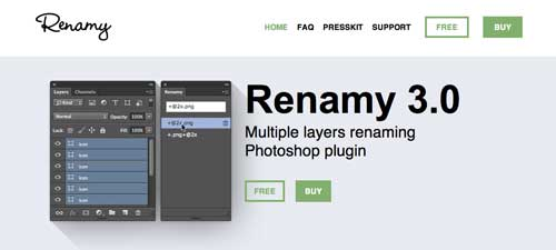 Plugin Photoshop para simplificar tareas: Renamy