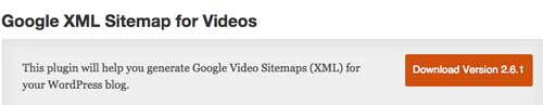 Plugin WordPress para mejorar SEO: Google XML Sitemap for Videos