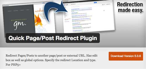 Plugin WordPress para mejorar SEO: Quick Page/Post Redirect