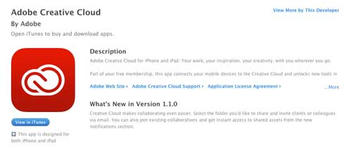 5 iOS app gratuitas de Adobe: Creative Cloud