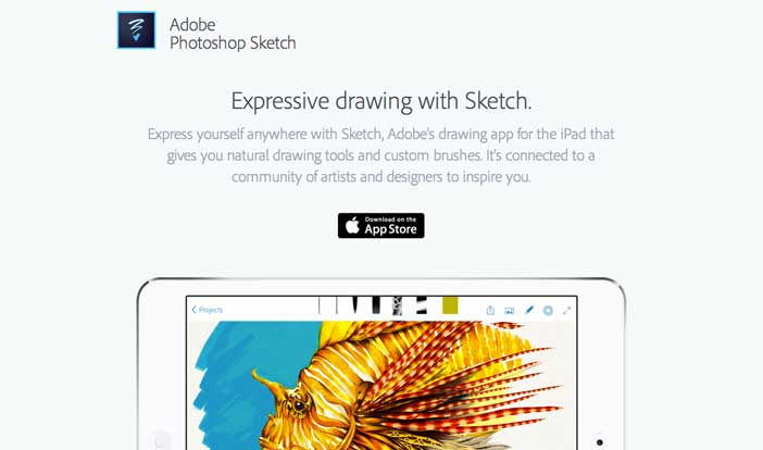 5 iOS app gratuitas de Adobe: Photoshop Sketch