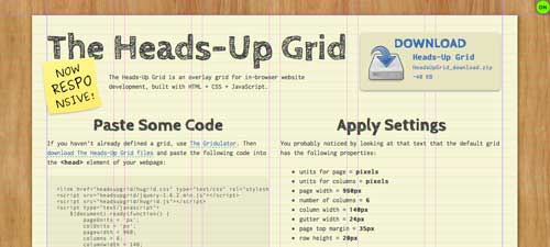 Plugin JQuery para sistemas de cuadrículas: Heads-Up Grid