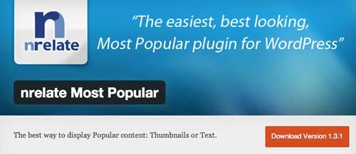 Plugin WordPress para entradas populares: nrelate Most Popular