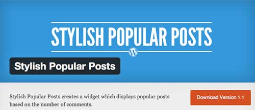 Plugin WordPress para entradas populares: Stylish Popular Posts