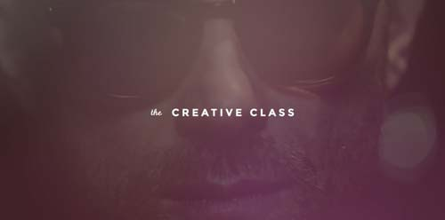 Ejemplos de paginas web que hacen uso de videos como fondo: The Creative Class