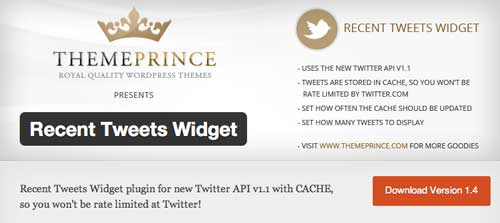 Plugin WordPress para añadir widget de Twitter: Recent Tweets Widget
