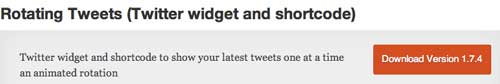 Plugin WordPress para añadir widget de Twitter: Rotating Tweets