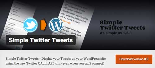 Plugin WordPress para añadir widget de Twitter: Simple Twitter Tweets
