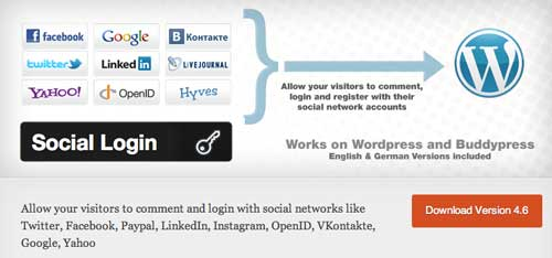Plugin WordPress para añadir registro vía Facebook: Social Login
