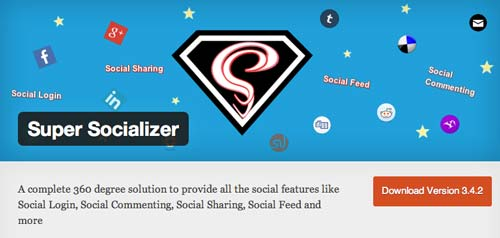 Plugin WordPress para añadir registro vía Facebook: Super Socializer