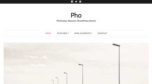 Temas WordPress sencillos: Pho