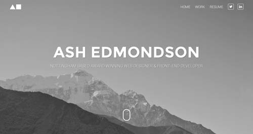 Websites that use photos of beautiful landscapes: Ash Edmonson