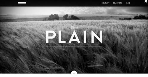 Websites that use photos of beautiful landscapes: Plain