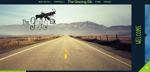 Websites that use photos of beautiful landscapes: The Grazing Elk
