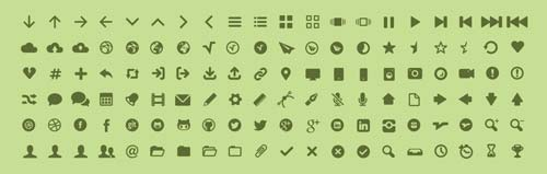 Tipografías gratis diseñadas en base a iconos: MFG Labs Icon Set