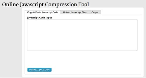 Herramientas para comprimir codigo JavaScript: JSCompress