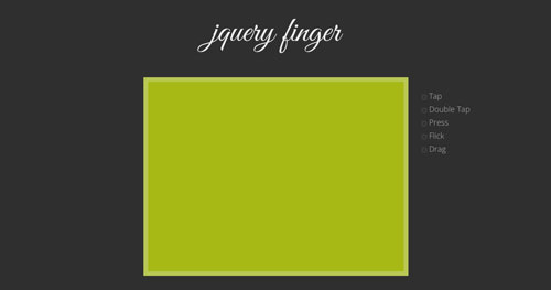 Plugin JQuery optimizados para dispositivos móviles táctiles: JQuery Finger