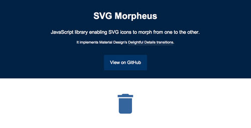 Librerías de Javascript plugin para animar gráficos SVG: SVG Morpheus
