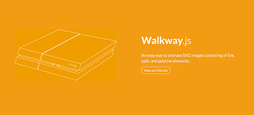 Librerías de Javascript plugin para animar gráficos SVG: Walkway.js