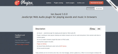 Plugin Jquery para reproducir audio en tu sitio: Ion Sound