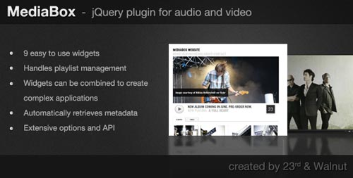 Plugin Jquery para reproducir audio en tu sitio: MediaBox