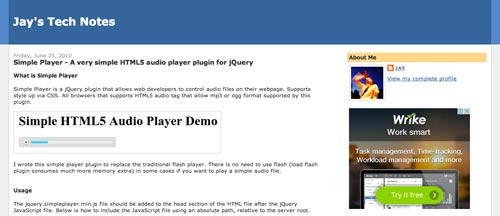 Plugin Jquery para reproducir audio en tu sitio: Simple Player