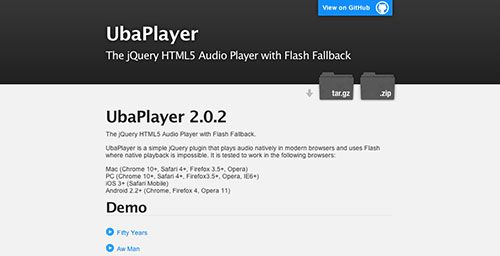 Plugin Jquery para reproducir audio en tu sitio: Uba Player