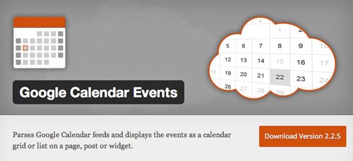 Plugin WordPress para añadir calendarios con eventos a tu sitio: Google Calendar Events