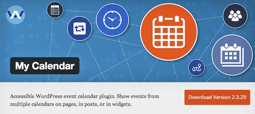 Plugin WordPress para añadir calendarios con eventos a tu sitio: My Calendar