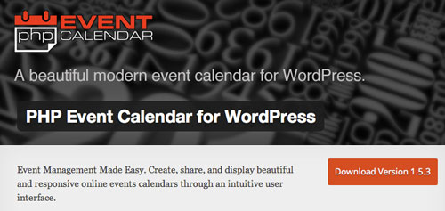 Plugin WordPress para añadir calendarios con eventos a tu sitio: PHP Event Calendar