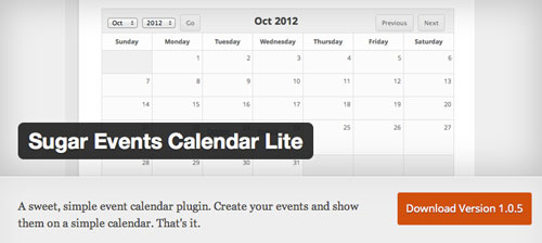 Plugin WordPress para añadir calendarios con eventos a tu sitio: Sugar Events Calendar Lite