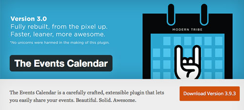 Plugin WordPress para añadir calendarios con eventos a tu sitio: The Events Calendar