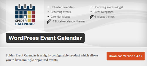 Plugin WordPress para añadir calendarios con eventos a tu sitio: WordPress Event Calendar