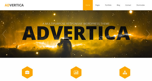 Temas WordPress gratuitos con efecto parallax: Advertica Lite