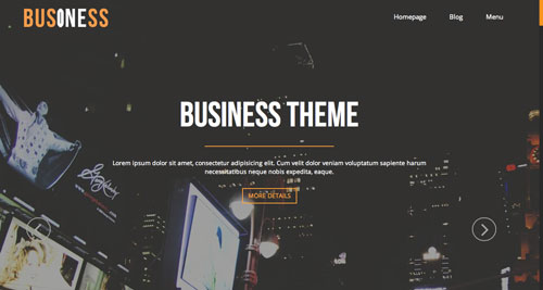 Temas WordPress gratuitos con efecto parallax: BusinessOne