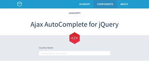 Plugin jQuery para implementar función Autocompletar en tu sitio: Ajax Autocomplete for jQuery