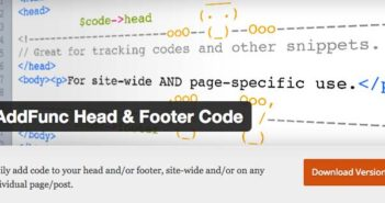 Plugins Wordpress gratuitos para optimizar footer: AddFunc Head & Footer Code