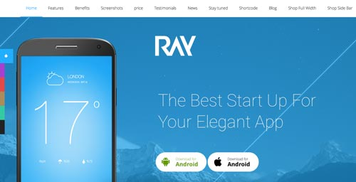 temas-wordpress-paginas-de-aterrizaje-aplicaciones-moviles-ray
