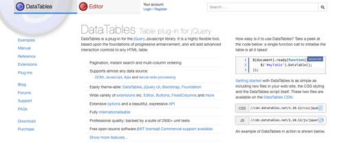 Plugins jQuery para modificar tablas HTML