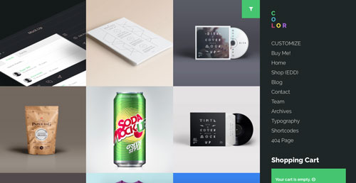 temas-wordpress-de-pago-uso-material-design-color